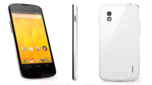 Google Nexus 4 in weiß offiziell vorgestellt