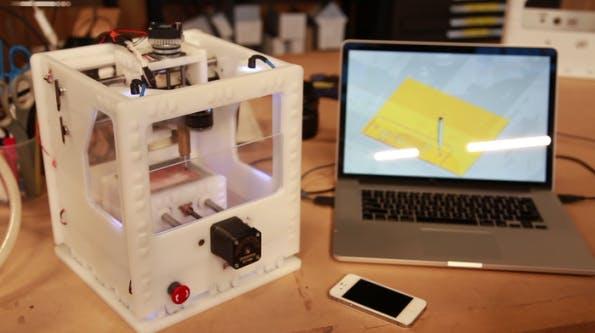 Konzipiere Prototype am Rechner und lass sie dir von der Othermill-Fräse konstengünstig produzieren. (Bild: Kickstarter)