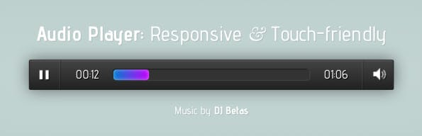Responsive Audio Player