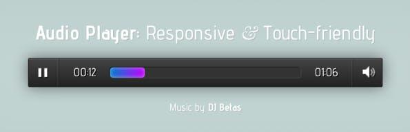 Responsive Audio Player