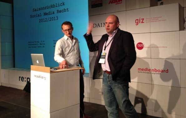 Experten im Social-Media-Recht: Henning Krieg und Thorsten Feldmann. (Foto: t3n.de)