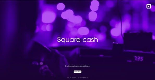 """Mit """"Cash"""" will das Unternehmen Square ein neues, simples Bezahlverfahren etablieren. (Screenshot: square.com/cash)"""