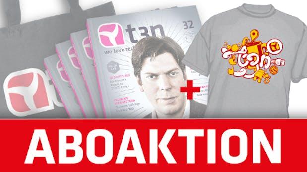 t3n-Aktion: Für kurze Zeit das Abo inklusive T-Shirt
