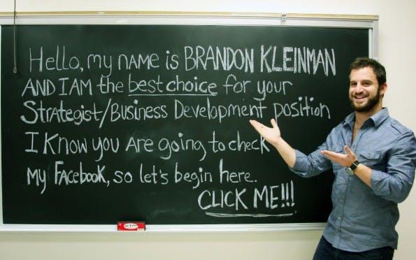 Brandon Kleinman weiß, dass Personaler auf Facebook nach Informationen suchen. (Foto: Brandon Kleinman-Facebook)