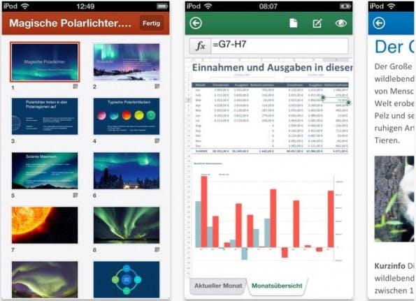 Office Mobile für iPhone ist jetzt auch im DACH-Raum verfügbar. (Screenshot: apple.com)