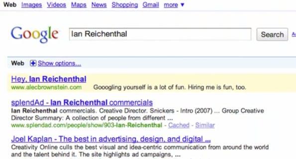 """""""The Google Job Experiment"""" von Alec Brownstein hat kaum Geld gekostet, aber genau die Menschen angesprochen auf die es ankam – mittels Google AdWords! (Screenshot: YouTube)"""