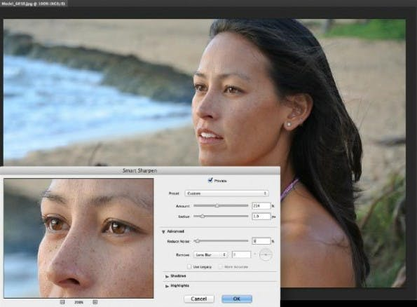 Smart Sharpen: Der Filter wurde in Adobe Photoshop CC deutlich verbessert. (Screenshot: Adobe)