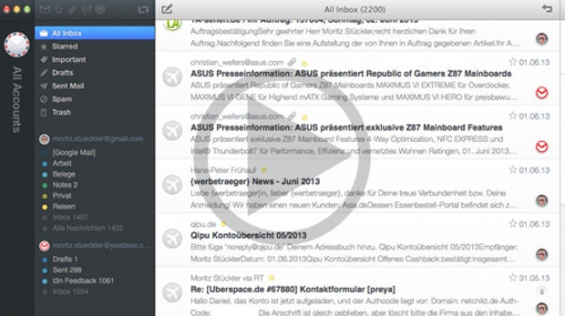 Airmail: Schicker neuer Mail-Client für OS X [Video]