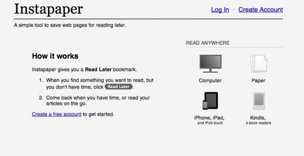 bookmarking-dienste instapaper