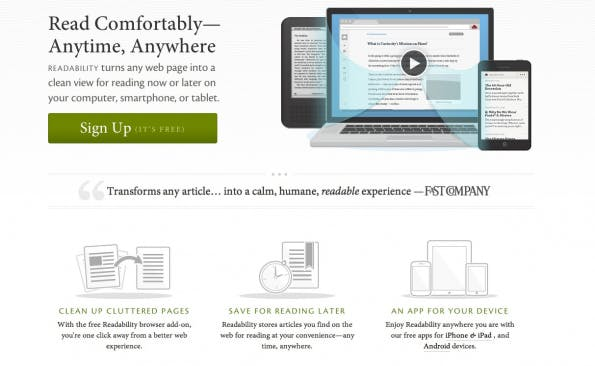 bookmarking-dienste readability