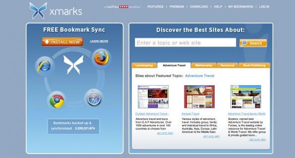 bookmarking-dienste xmarks