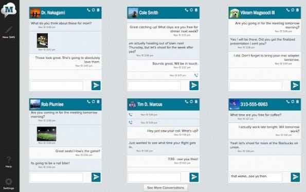 MightyText: Die Chrome-Erweiterung bringt die SMS und MMS von eurem Android-Smartphone auf den Desktop. (Screenshot: Google)