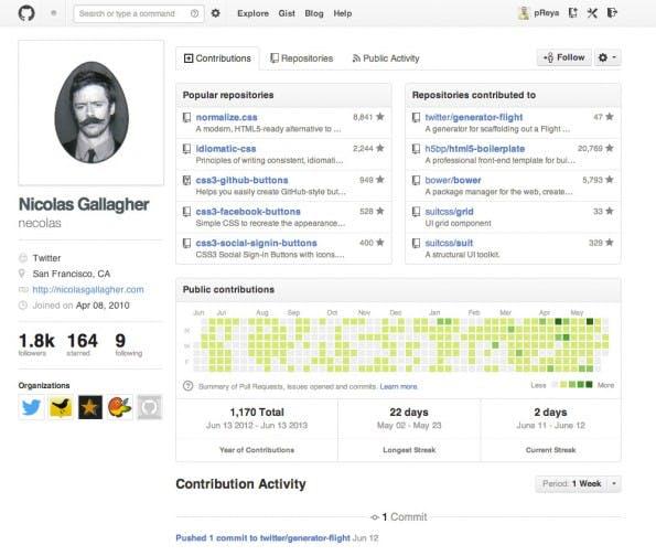 """Mit Community-Features, wie etwa Entwickler-Profilen wertet GitHub die technischen Funktionen des Kommandozeilentools """"Git"""" deutlich auf."""