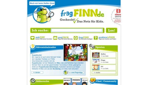 fragFINN ist die Google-Alternative für Kids. (Screenshot: fragFINN)