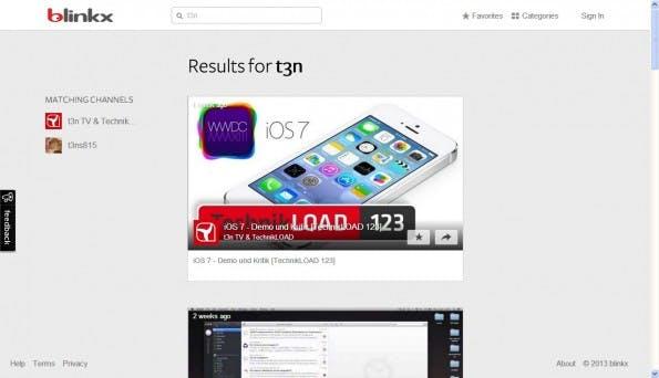 Blinkx: Durchaus eine Alternative zu Googles Videosuche. (Screenshot: blinkx)