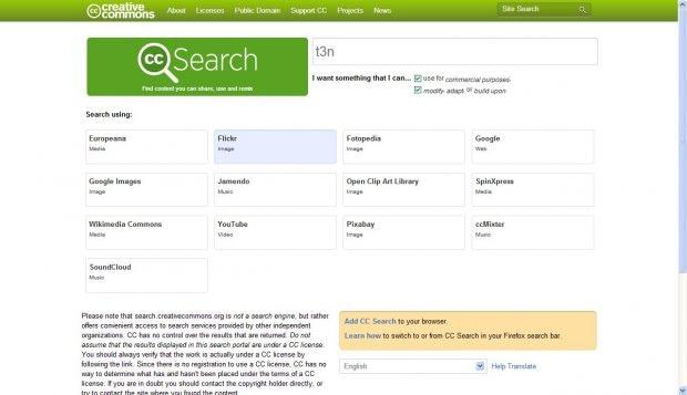 Creative Commons: Wer Bilder oder andere Werke sucht, die unter bestimmten CC-Lizenzen stehen, ist hier genau richtig. (Screenshot: Creative Commons)