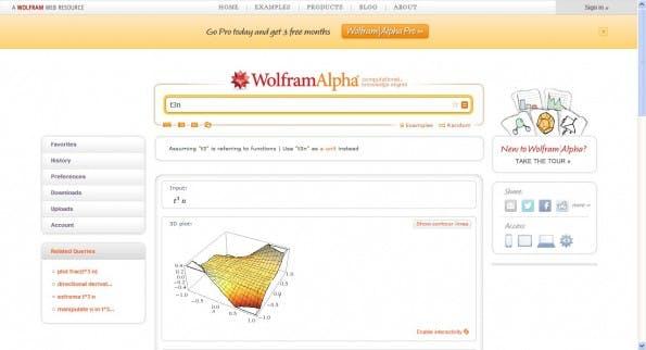 Wolfram Alpha: Die semantische Suchmaschine liefert Suchenden die passenden Fakten. (Screenshot: Wolfram Alpha)