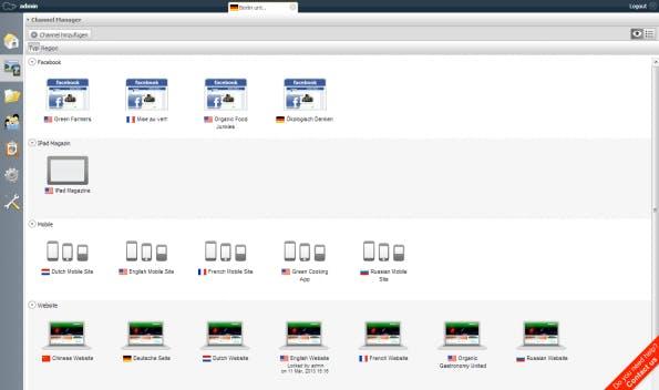 Über den Cannelmanager lassen sich alle Kanäle verwalten und neue ergänzen. (Bildquelle: Hippo)