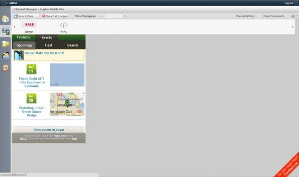 Hippo bietet als eines der wenigen Open Source CMS die Möglichkeit, Inhalte für mobile Kanäle über Widgets zu bearbeiten. (Bildquelle: Hippo)