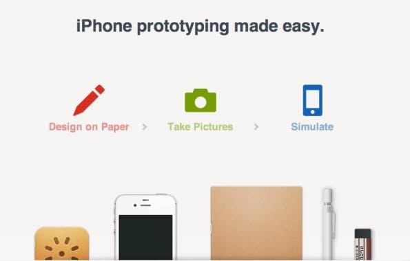 Entwürfe auf Papier erstellen, fotografieren und mit der App Pop miteinander zu einem interaktiven Prototypen verknüpfen – simpel und elegant. (Screenshot: Popapp)