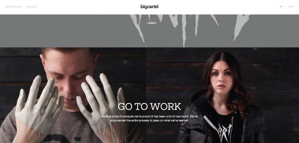 One-Page-Design bietet sich auch für Online-Shops oder Anbieter von Diensten an. (Screenshot: bigcartel)