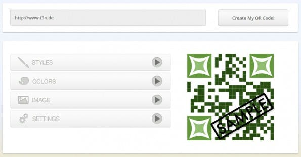 SnippQR: Der Editor ist leicht zu bedienen. (Screenshot: Snipp)