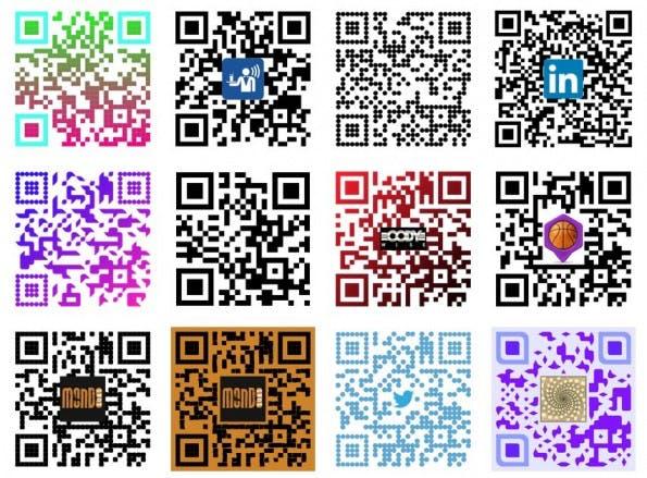SnippQR: Es stehen verschiedene Style für die generierten QR-Codes zur Verfügung. (Screenshot: Snipp)