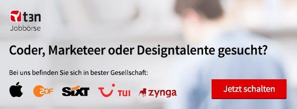 Coder, Marketeer oder Designtalente gesucht? - Jetzt schalten in der t3n Jobbörse