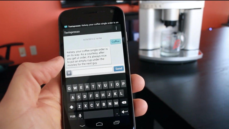 Textspresso: Via SMS kann ein einfacher, zweifacher oder dreifacher Espresso bestellt werden.