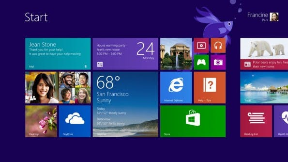 Große und kleine Kacheln in Windows 8.1. (Screenshot: Microsoft)