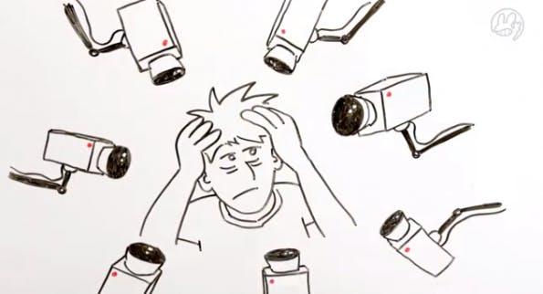 Der YouTuber Manniac klärt in seinem neuesten Webvideo über die Gefahren des Überwachungsstaates auf. (Screenshot: YouTube)