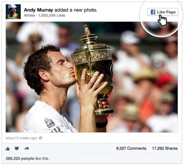 """Aus den """"Embedded-Posts"""" kann man Seiten heraus liken. (Bild: Facebook Newsroom)"""