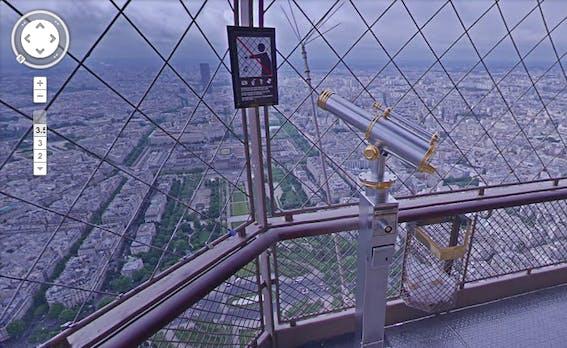 Mit Google Street View auf den Eiffelturm