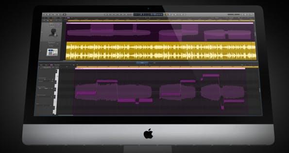 Ansicht der Logic Pro X-Musiksoftware. (Screenshot: apple.com)