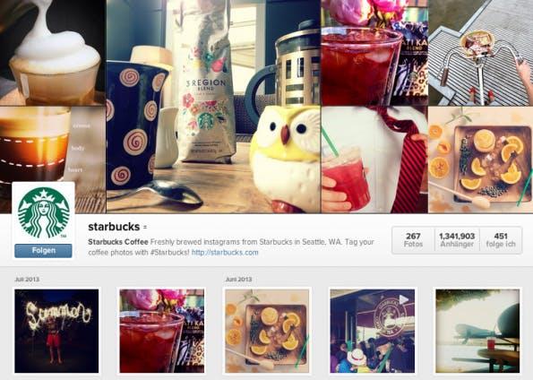 Starbucks-Profil-Instagram