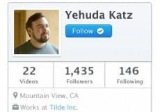 Yehuda Katz scheint einer der ersten Entwickler auf Bitcast zu sein. (Screenshot: Bitcast)