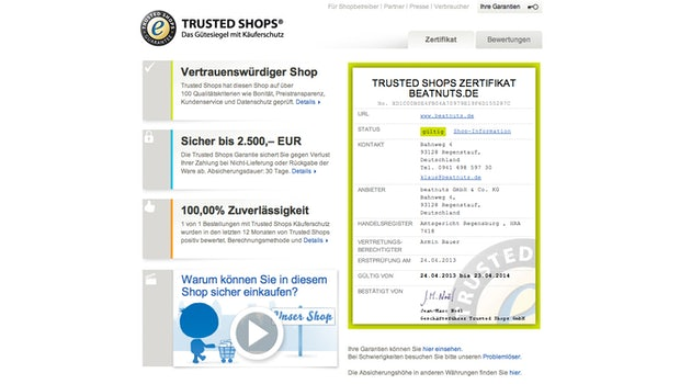 (Screenshot: Trusted Shops)