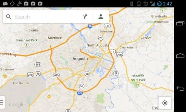 Google Maps 7.0 bietet Offline-Karten per Befehl statt Menüpunkt. (Bild: Antuan Goodwin/CNET)