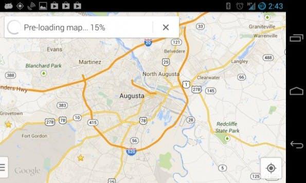 Google Maps: Nach Eingabe des Befehls werden die Kartendaten gespeichert. (Bild: Antuan Goodwin/CNET)