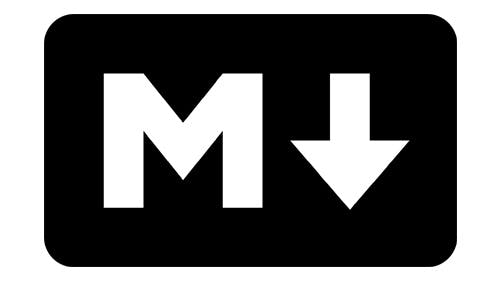 Inzwischen gibt es sogar ein Markdown-Logo, das vielerorts anerkannt und eingesetzt wird, auch wenn es nicht von den Markdown-Erfindern stammt.
