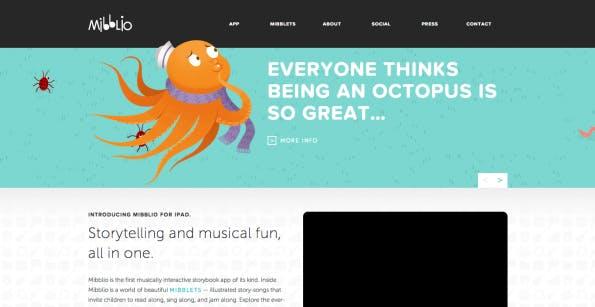Die Namensfindung für ein Startup ist nicht leicht. Der Mibblio-Gründer erzählt, dass es bei seinem Startup neun Monate dauerte. (Screenshot: mibblio.com)