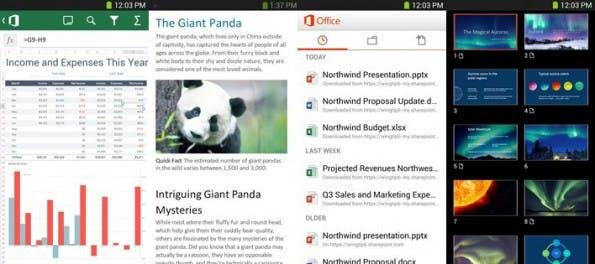 Mobile Office: Die App bringt Microsofts Office 365 auf Android-Smartphones. (Screenshots: Google Play)