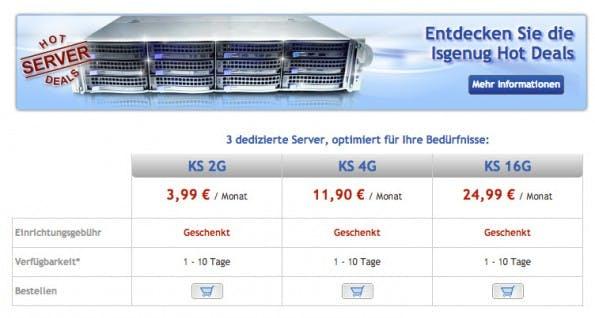 Der neue Billig-Root-Server im Vergleich mit den größeren Angeboten von OVH.