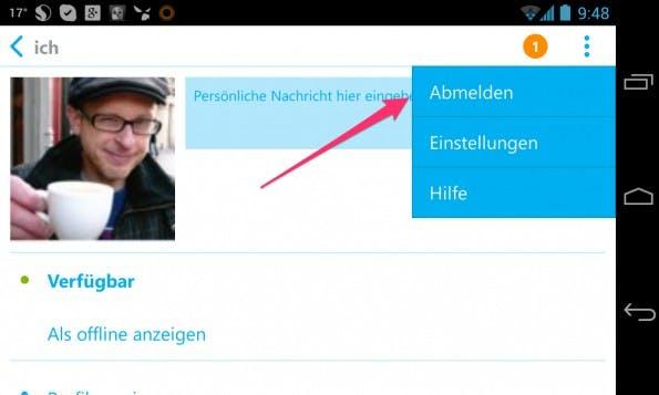 skype-android-abmelden