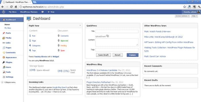 """""""Blue Admin"""" orientiert sich stark am Look von Facebook."""