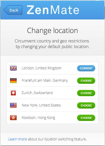 ZenMate betreibt Server in Großbritannien, den USA, Hong Kong und der Schweiz. Weitere sollen folgen.