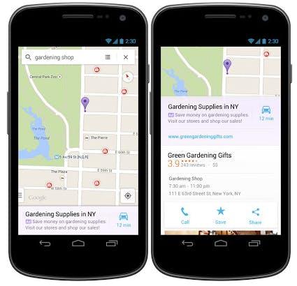Google Maps: Werbung kommt in die Karten (screenshot: macerkopf.de)