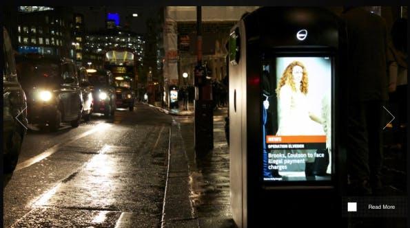 Mülltonnen in London zeigen Werbung (screenshot: Renew)