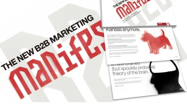 """B2B Marketing Manifesto"" Ein Content-Marketing-Erfolg. (Quelle: velocitypartners.co.uk)"