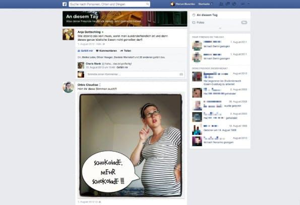 """So sieht die Übersicht des Facebook-Features """"On This Day"""" beim Kollegen Florian Blaschke aus."""